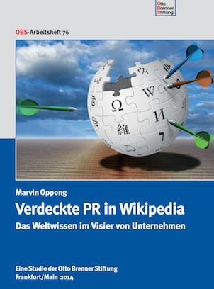 """""""Verdeckte PR in Wikipedia"""": eine Studie der Otto Brenner Stiftung."""